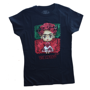 Playera dama frida papel picado