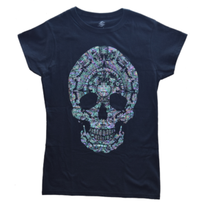 Playera dama calavera calendario