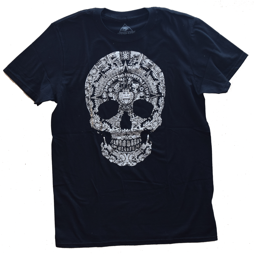 Playera calavera calendario