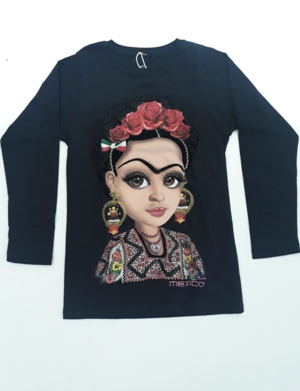 PLAYERA FRIDA HERMOSA MANGA LARGA- DAMA